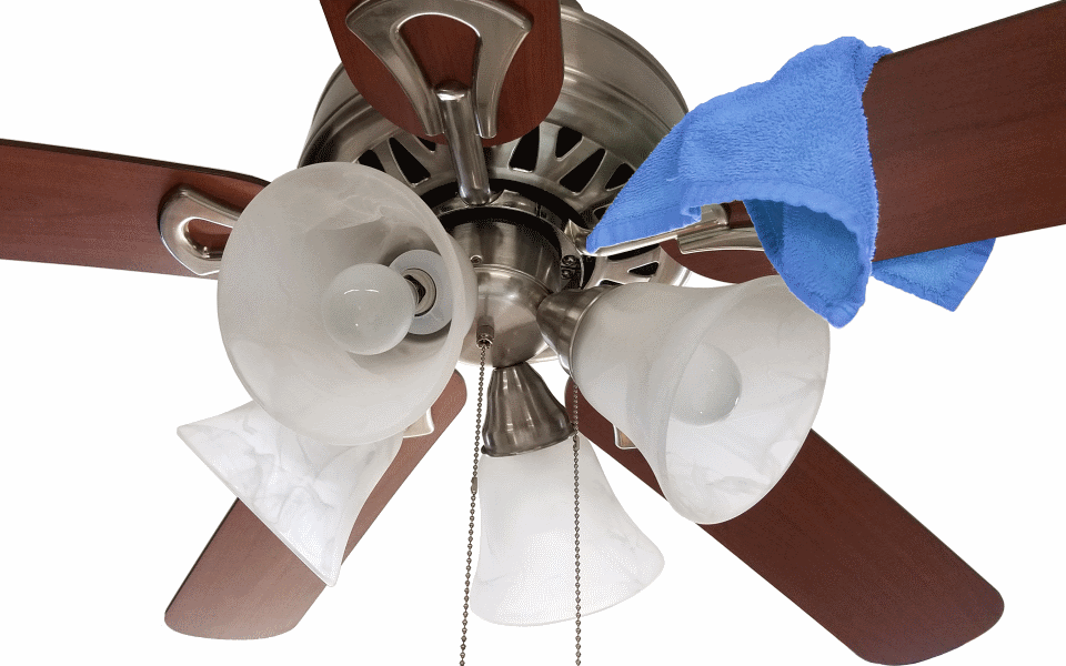 How to remove the wobble from that ceiling fan using an app clean ceiling fan mozeypictures Gallery